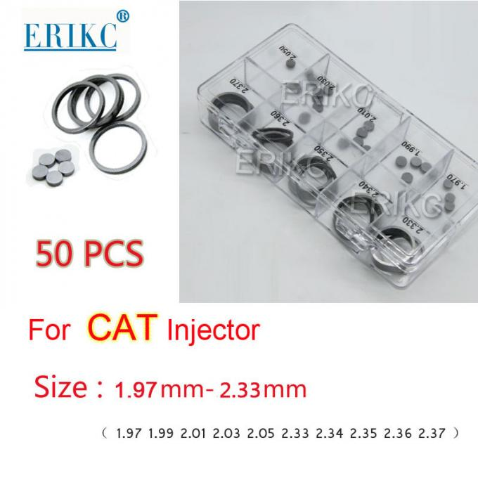 ERIKC Cat Common rail injector nozzle needel valve lift adjusting shim size 1.97--2.33mm for high quality