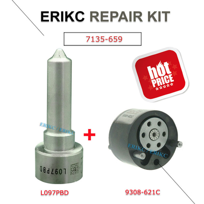 ERIKC 7135-659 common rail injector spare parts valve 28440421 28239294 9308-621C and nozzle L097PBD repair kit group