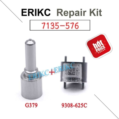 ERIKC delphi diesel fuel rebuild repair adjust kit 7135-576 nozzle G379 valve 9308-625C for Hyundai injector 28236381