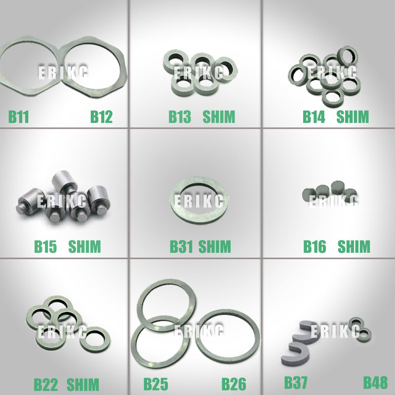 ERIKC Bosch B11 B12 B13 B14 B16 B25 B31 600 pieces common rail injector ring fuel injector base shim  standard  washer