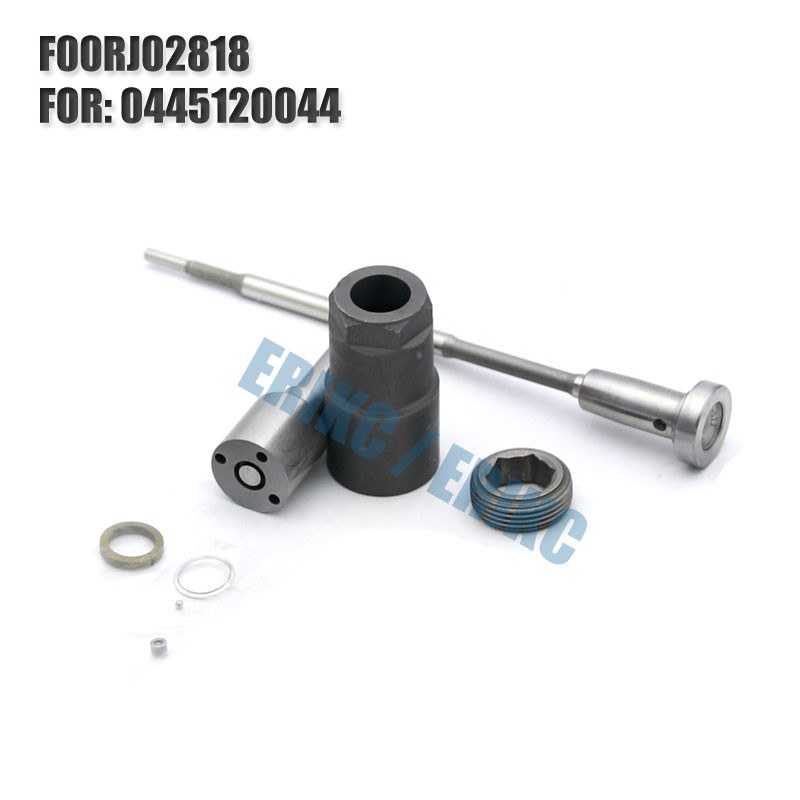 ERIKC diesel repair kit F00RJ02818 BOSCH common rail injector F 00R J02 818 valve nozzle for 0445120044