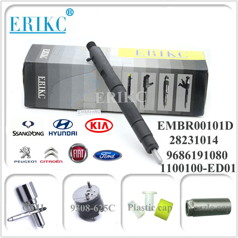 EMBR00101D delphi diesel common rail injector 28236381 R00101D 9686191080 for FIAT FORD SSANGYONG KIA HYUNDAI PEUGEOL