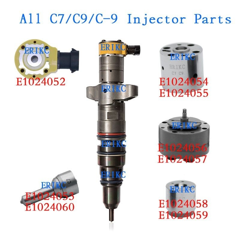 ERIKC 10R7222 common rail injector parts C9 254-4339 CAT 267-3360 injector Intermediate control spool valve 267-3361